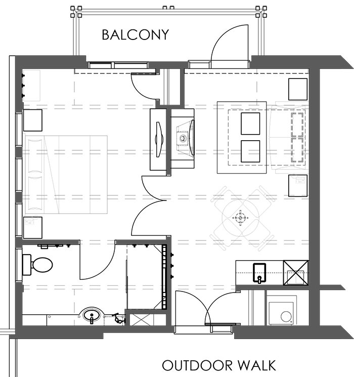 Floor Plan Premium One Bedroom Suite