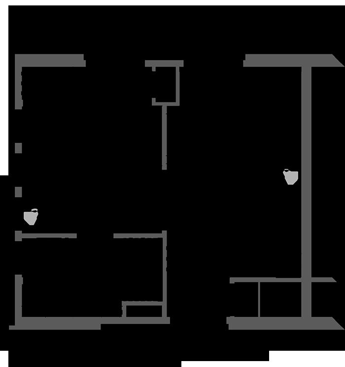Floor Plan Premium One Bedroom Suite