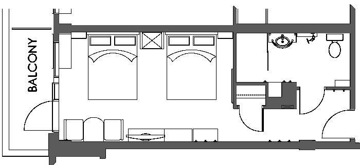 Floor Plan Accessible Hotel Room