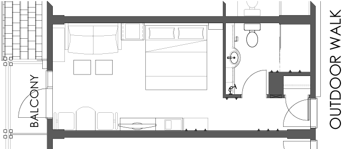 Floor Plan - Superior Room King Bed