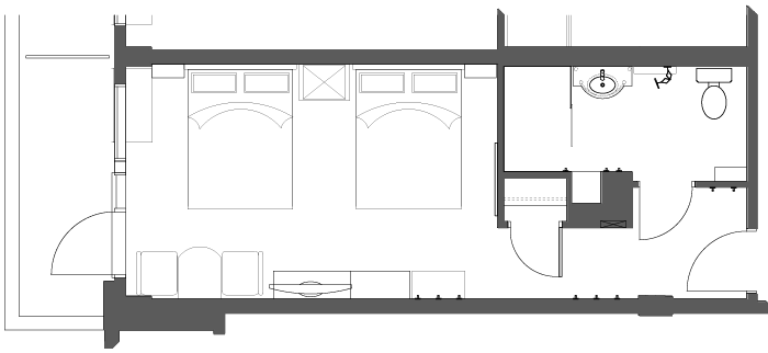 Floor Plan Accessible Hotel Room