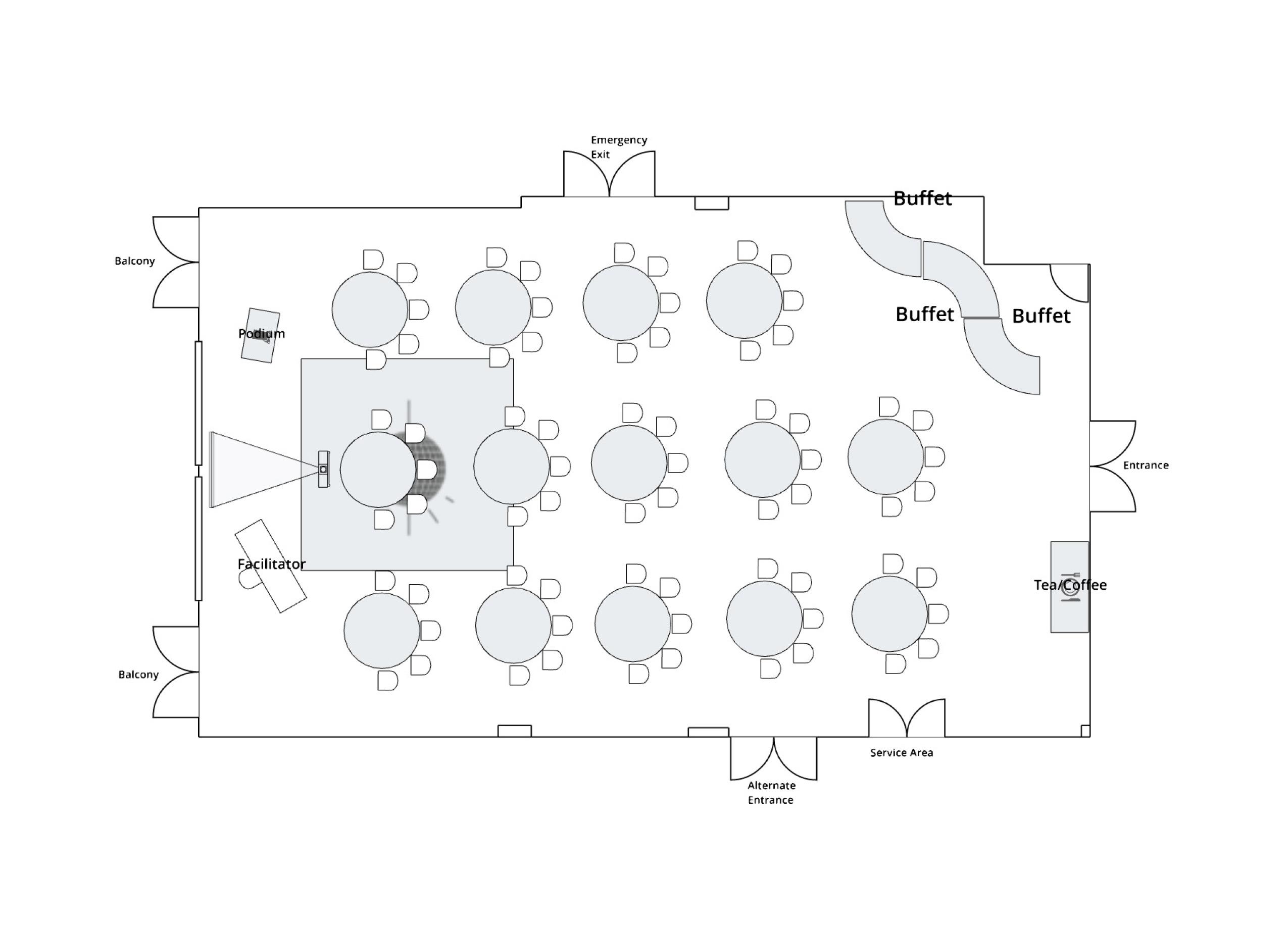 Antler Room Open Rounds of 5 Aligned