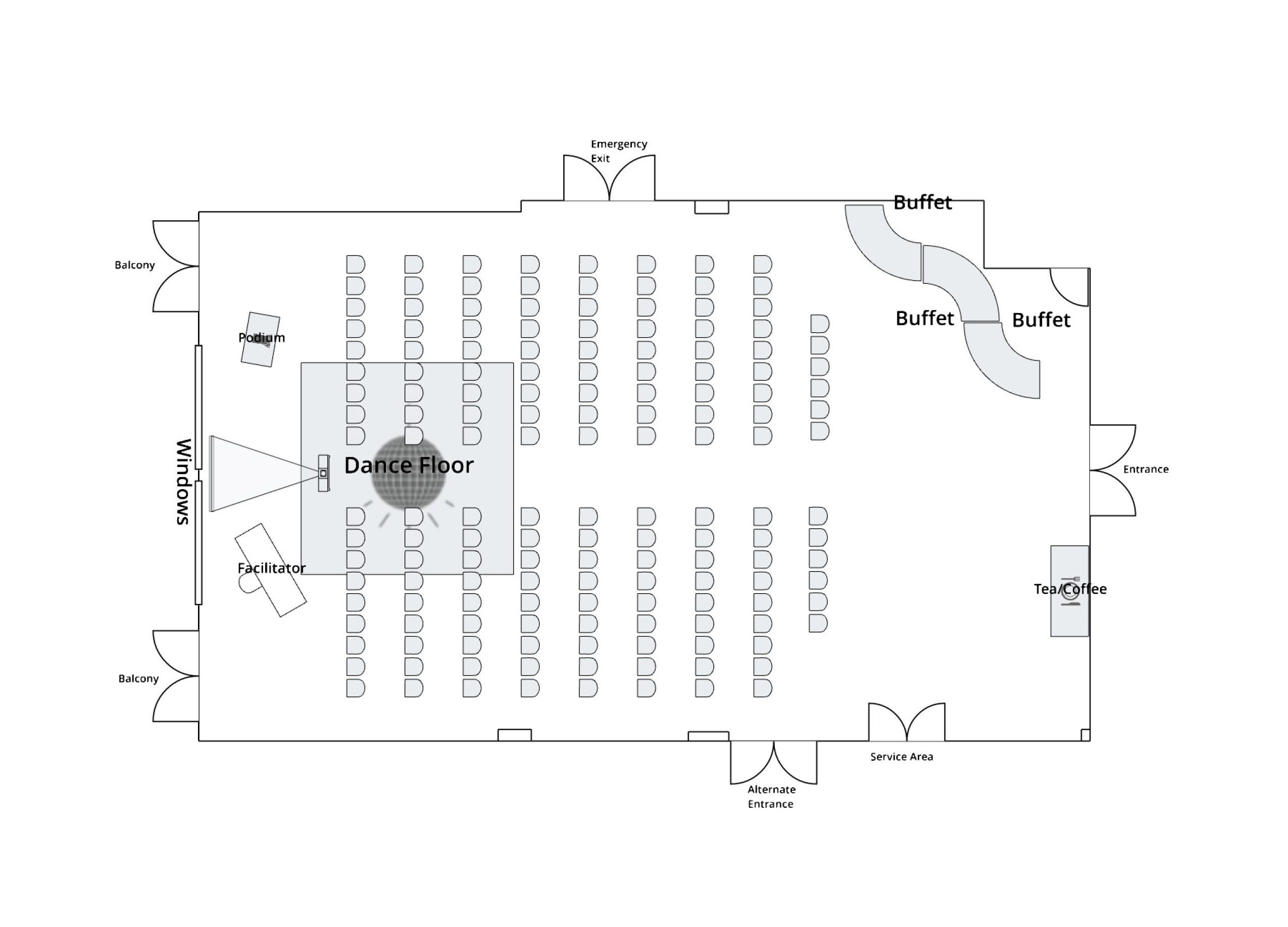 Canoe Room Theatre Layout