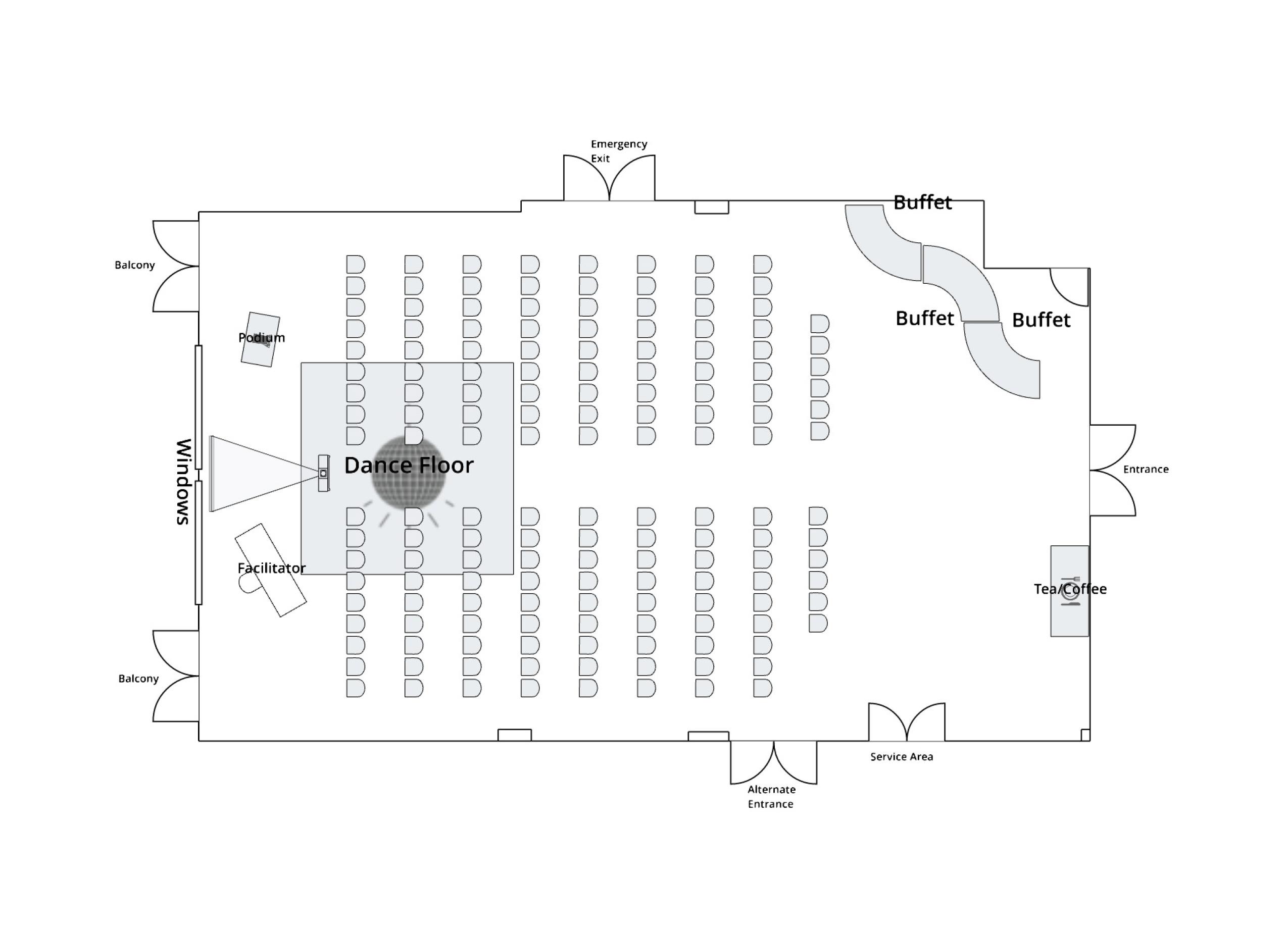 Antler Room Theatre Layout
